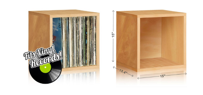 These record cubes are made from post-consumer recycled paper