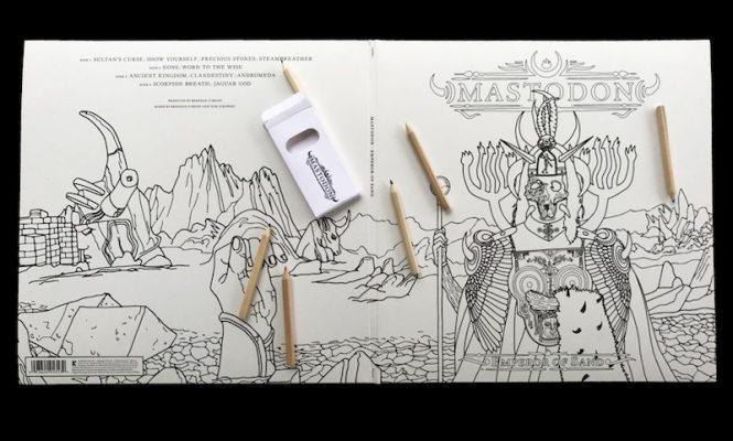 Mastodon's new album comes with a colour-in vinyl sleeve