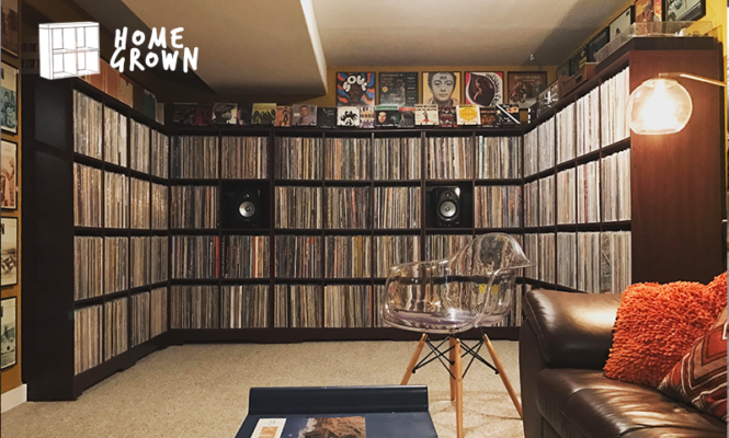 Home Grown: A stunning albums collection in a u-shaped wall of vinyl