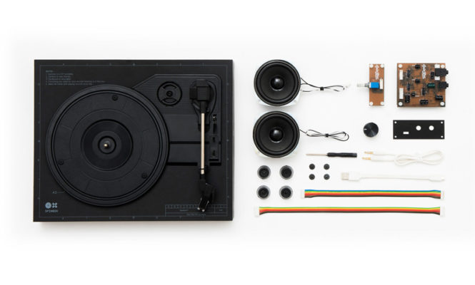 Build your own portable turntable in just 18 minutes
