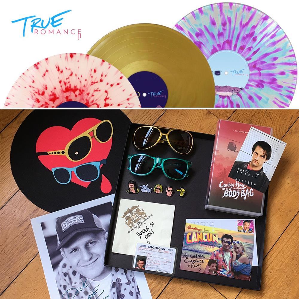 The soundtrack to Quentin Tarantino&#8217;s <em>True Romance</em> released as massive vinyl box set