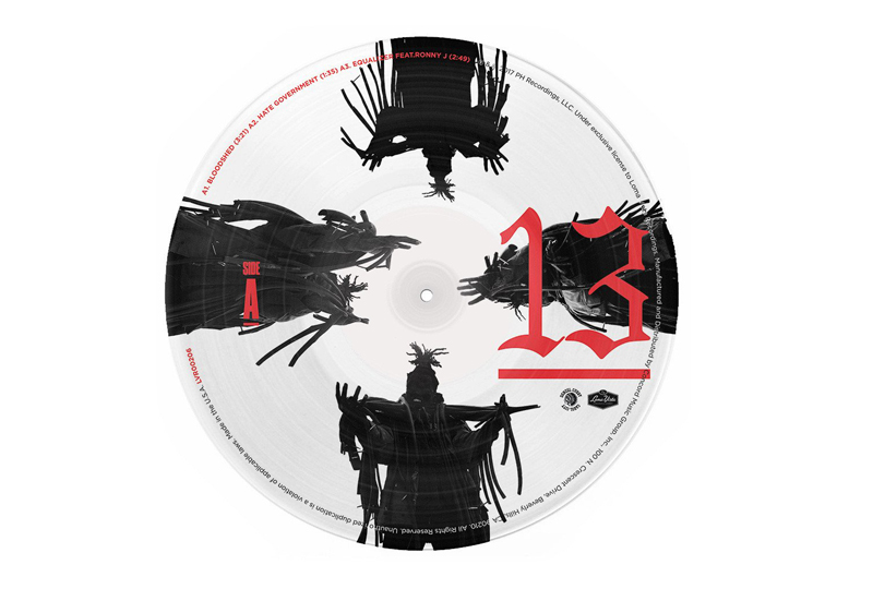Denzel Curry releases new 13 EP on 10″ picture disc