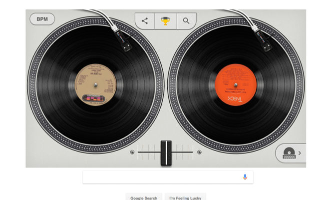"DJ iconic hip hop records on Google's virtual turntables to ""celebrate the birth of hip hop"""