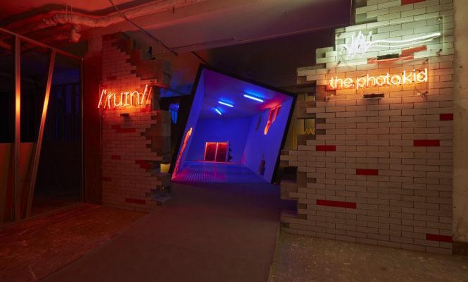Enter Virgil Abloh and Ben Kelly&#8217;s deconstructed nightclub installation <em>Ruin</em>