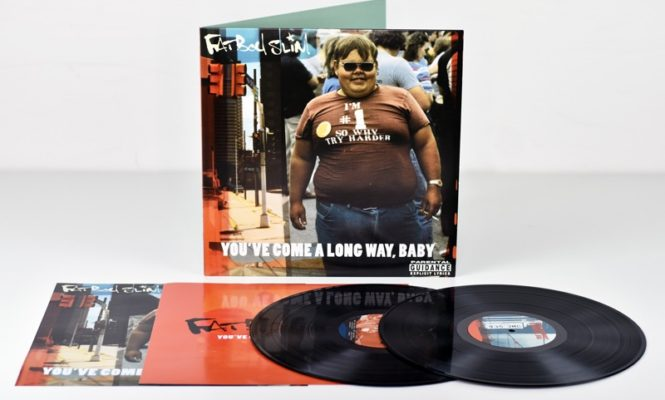 Fatboy Slim delivers <em>You&#8217;ve Come A Long Way, Baby</em> vinyl reissue in a pizza box