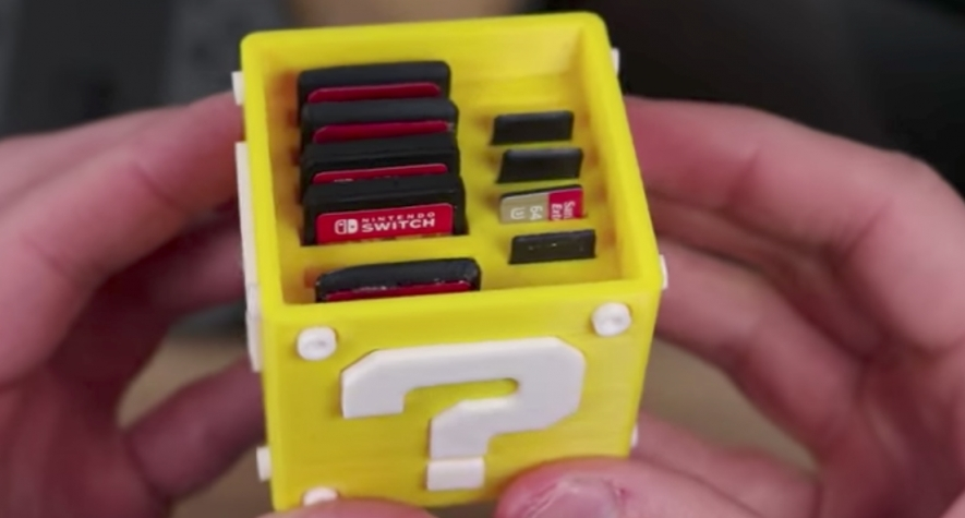 This 3D Printed Nintendo Switch Cartridge Case Looks Sweet