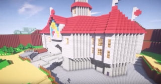 Super Mario 64 was completely remade in Minecraft