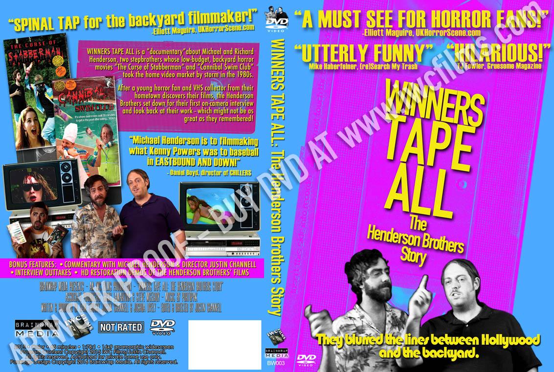 Winners Tape All DVD sleeve
