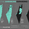 Palestine Shrinking, Expanding Israel