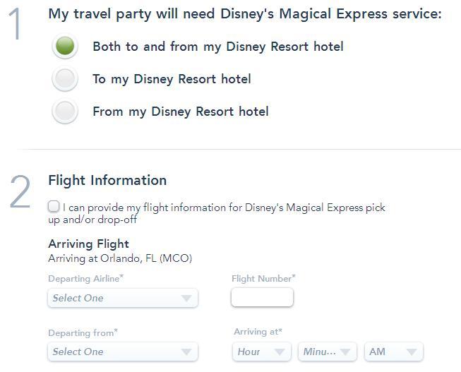 ¿Dónde Reservo el Disney Magical Express?