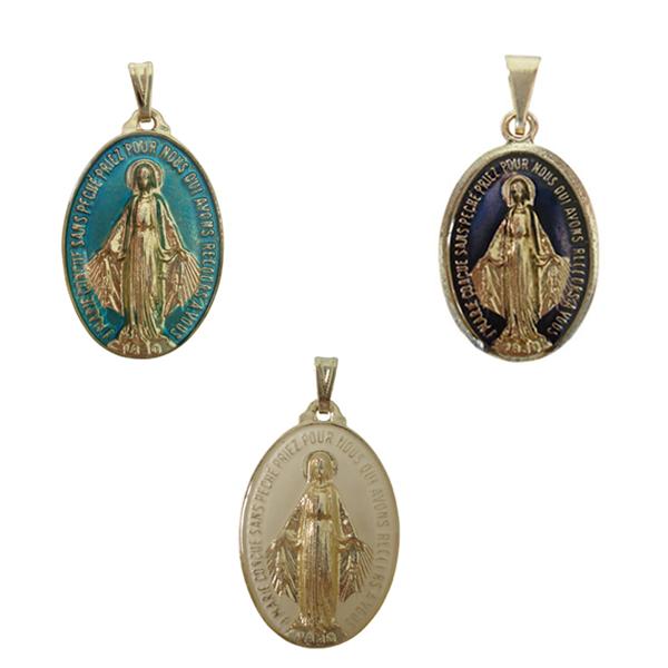 Medalha Milagrosa de Nossa Senhora das Graças Resinada