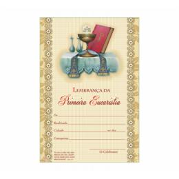 Certificado de Primeira Eucaristia - Cálice