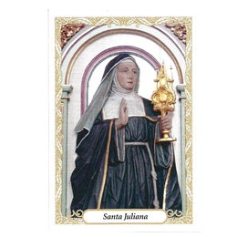 Santinho de Papel de Santa Juliana - Pacote c/100
