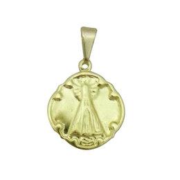Medalha de Nossa Senhora Aparecida Dourada - 1,5cm (Pacote c/50 unids.)