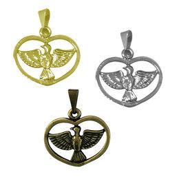 Medalha do Divino Espírito Santo Coração - 2,1cm