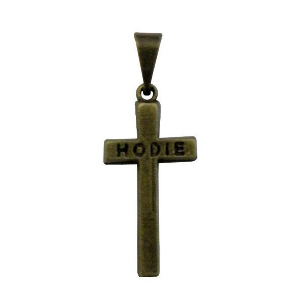 Pingente Cruz de Santo Expedito em Ouro Velho - 2cm