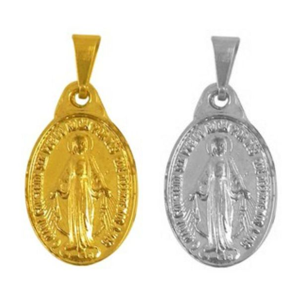 Medalha Milagrosa de Nossa Senhora das Graças - 1,8cm (Pacote com 500 unidades)