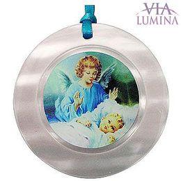 Medalhão Madrepérola - Anjo Azul