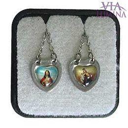Escapulário em Inox - Medalha Coração