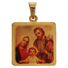 Medalha em Ouro Quadrada Borda Lisa
