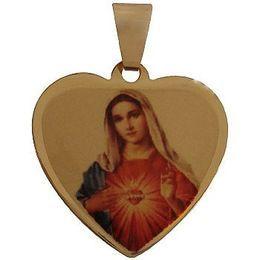 Medalha em Ouro Coração Borda Lisa