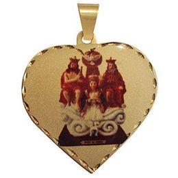 Medalha em Ouro Coração Borda Trabalhada
