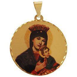 Medalha em Ouro Redonda Borda Trabalhada