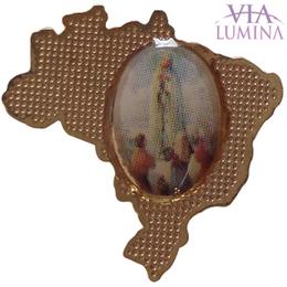 Botton de Lapela Mapa Brasil