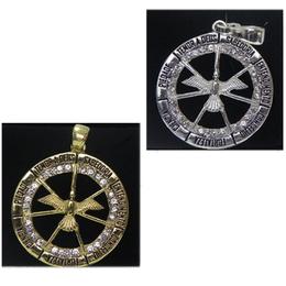 Gargantilha com Medalha dos Sete Dons do Divino Espírito Santo com Strass