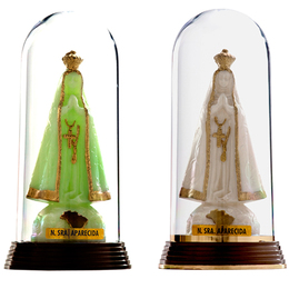 Nossa Senhora Aparecida - Plástica com redoma - 12cm