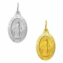 Medalha em Ouro Nossa Senhora das Graças - Medalha Milagrosa