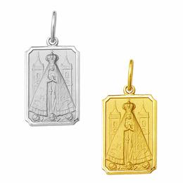Medalha em Ouro de Nossa Senhora Aparecida - Retangular