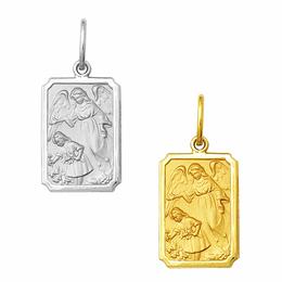 Medalha em Ouro do Anjo da Guarda - Retangular