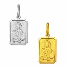 Medalha em Ouro de Santa Luzia - Retangular