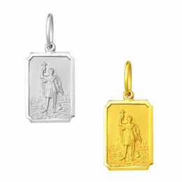 Medalha em Ouro de Santo Expedito - Retangular