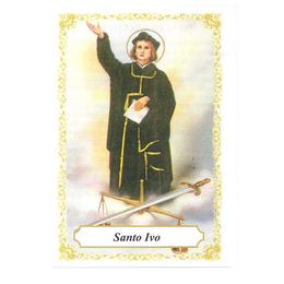 Santo Ivo - Pacote c/ 100 Santinhos de Papel
