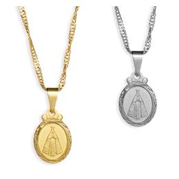 Medalha de Nossa Senhora Aparecida Folheada - 1,5cm