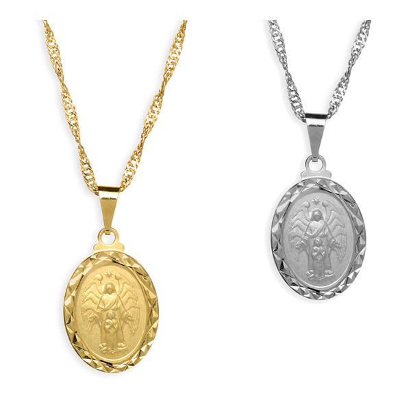 Medalha Folheada Diamantada do Anjo da Guarda