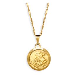 Medalha Folheada de São Jorge - 18mm