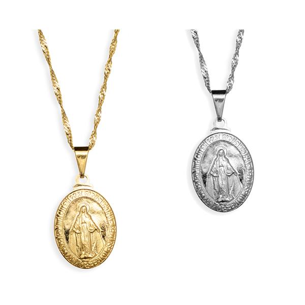 Medalha de Nossa Senhora das Graças Folheada