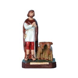 Santo Isidro Lavador - Gesso ou Resina - 20cm