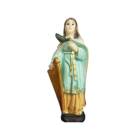Imagem de Santa Cecilia em Resina de 7cm