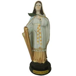 Imagem de Santa Cecília em Resina de 20cm