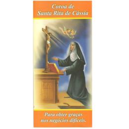 Folheto Coroa de Santa Rita de Cássia