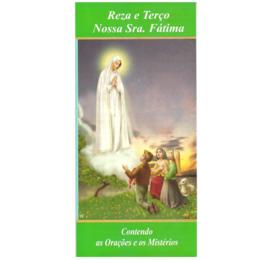 Folheto Reza e Terço Nossa Senhora de Fátima