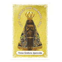 Nossa Senhora Aparecida - Jubileu dos 300 anos - Pacote c/100 Santinhos de papel