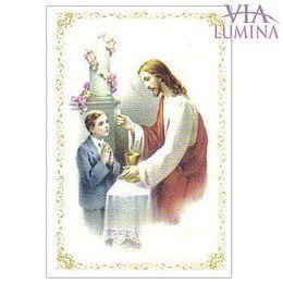 Santinho Primeira Eucaristia - Menino Pacote c/ 100