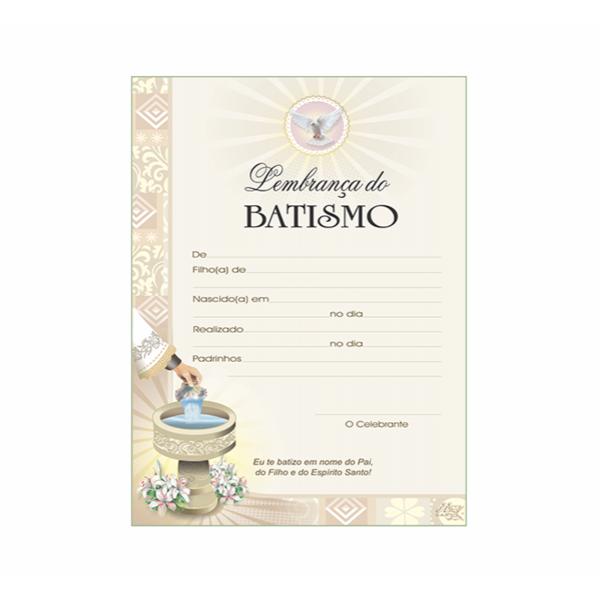 Certificado de Batismo