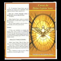 Folheto da Coroa do Divino Espírito Santo
