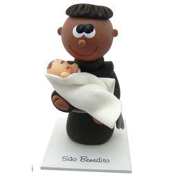 Imagem de São Benedito em Biscuit